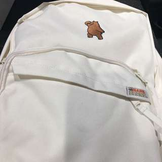 Last Piece Instock Official spao Cartoon Network CNN webarebear ivory backpack bagpack bag brown bear GRIZZY