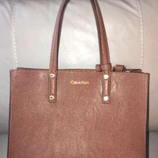 Brown Calvin Klein purse