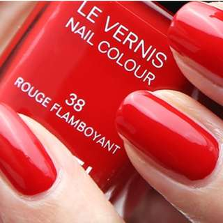 NEW CHANEL Le Vernis Nail Polish 38 Rouge Flamboyant 13ml