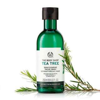 THE BODY SHOP 茶樹潔面啫喱 Tea Tree Skin Clearing Facial Wash 暗瘡消炎 除粉刺 面油