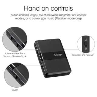 Sainlogic Bluetooth 4.1 Audio Transmitter and Receiver aptX Low Latency *NEW*
