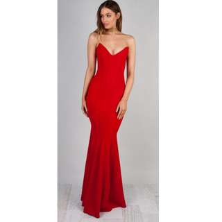 Zachary OLYMPIA GOWN – CRIMSON - Size Small  RRP-$330