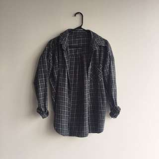 Brandy Melville oversized plaid button down