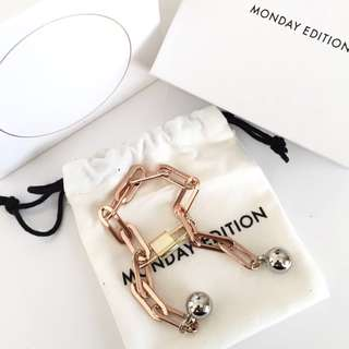 Korea Monday Edition rose gold chain Bracelet