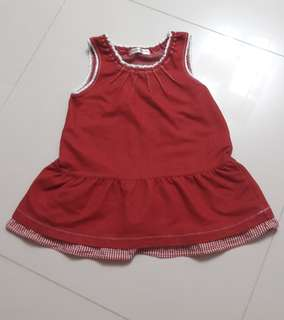 Red colour girl's dress