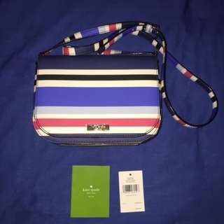 Kate Spade Large Carsen Crossbody bag laurel Way Printed neweltzstr	8x6.5x2	3