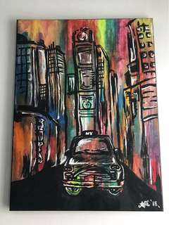 New York City Stylized Painting