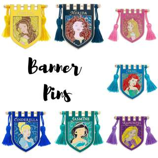 Disney Princess Banner Pin Collection