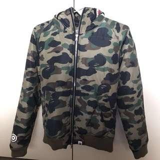 Bape Green Camo Puffer Jacket