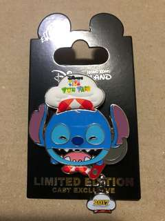 香港 迪士尼 徽章 Disney Pin Cast Exclusive TsumTsum Fun Fair 2017 Stitch 史迪