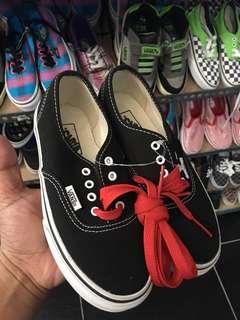 Vans Authentic Black Shoes — Size 12 Kids