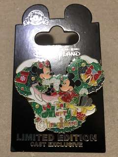 香港 迪士尼 徽章 Disney Pin Cast Exclusive 2017 Merry Christmas
