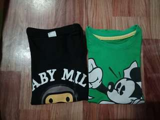 Mickey and Baby milo shirt