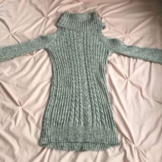 Grey turtle neck sweater dress