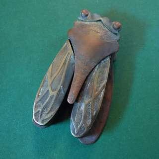 銅製古董蟬型墨盒