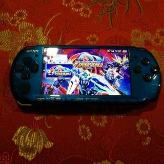 PSP 3000 Blue Modded