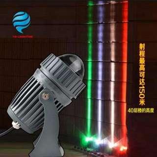 (2件/2pieces) KTV舞臺燈光家用彩光燈牆壁射燈3W款射程三層樓高度 (唯多推廣系列) (包Buyup自取) (party disco wall beam lighting)