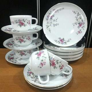 "Set Cawan Piring Cop ""TOSEN JAPAN"""