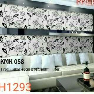 Wallpaper dinding motif flower