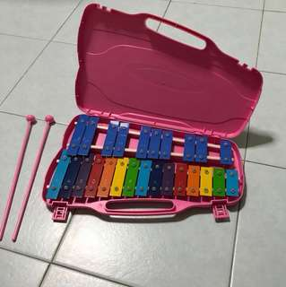 Glockenspiel 25 note portable