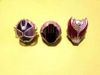 幪面超人指環(3個)