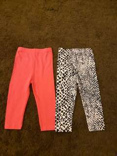 [2 For Rm12] Girls Leggings 12-18m