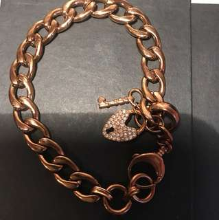 Authentic Rose Gold Fossil Bracelet