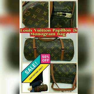 Authentic LV Papillon 26 Old Type