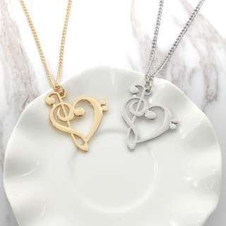 Treble & Bass Clef Necklace