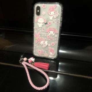 [代購] iPhone X my melody 手機殼連電話繩