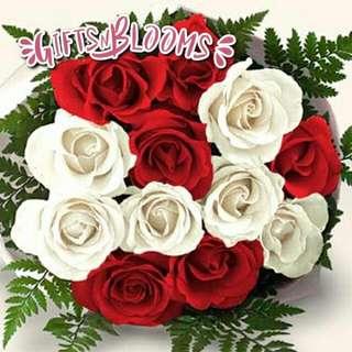 Fresh Flower Bouquet Surprise for Special Anniversary Birthday Gift V33 - NLZLA