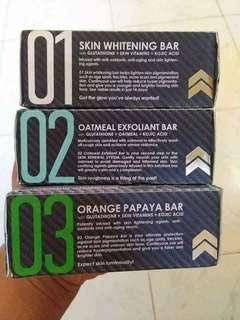 Whitening bar soap