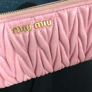 Miu Miu pink coins bag