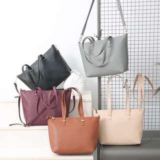 Hand bag w/sling  **zipper Med Size (35x26x10cm)