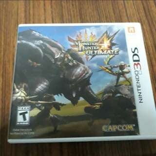 3ds 2ds monster hunter 4 ultimate