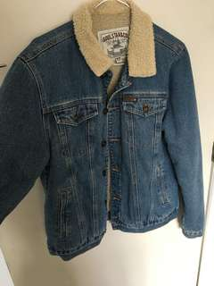 Blue Denim borg jacket