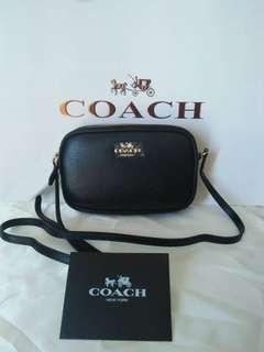 Sale!! Coach double zip sling bag black