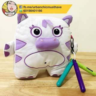 HIPPO PURPLE INKOOS SOFT TOY ART PILLOW WASHABLE CUTE DIY FUN GIFT KIDS CHILDREN