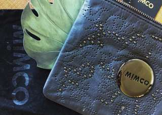 MIMCO Medium Pouch - Charcoal/Embellished