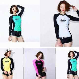 Ladies Rashguard Set (Free Size)