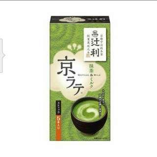 🚚 [日本製] 辻利抹茶牛奶 5包入/934678 $120 / 每包14g*5包  京都必訪百年老年-辻利的抹茶牛奶,味道濃郁 喝一口,瞬間造訪京都花見小路的FU