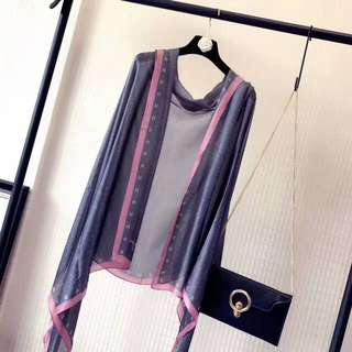 Chanel 🔥Clearance🔥High Grade Silk Scarf Travel Holiday Shawl Business Trip