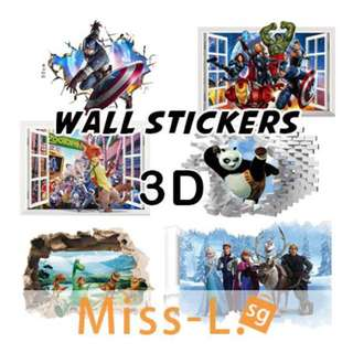 👣 REMOVABLE 3D WATERPROOF WALL STICKERS