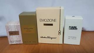 Authentic miniature perfumes for women