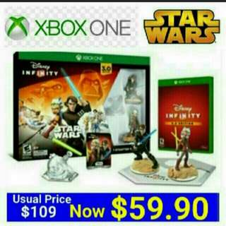 [Brand New] XBOX ONE STAR WARS STARTER PACK DISNEY INFINITY 3.0 (Region Free - Suitable for NTSC-J/NTSC) Usual Price: $109.90 Special Price; $59.90 +  Free Mail Postage (Brand New in box & Sealed).