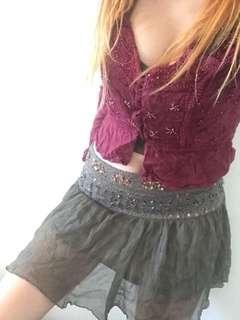 Boho bohemian hippy top and skirt