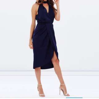 Atmos And Here Navy Wrap Dress size 8