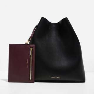 Charles & Keith Bucket Bag (Structured)