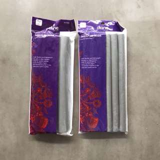 RARE Grey Heatless Curling Flex Rods/Wands 2 x packs NEW in packet