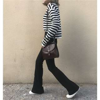 High waist Retro Solid color Simple Casual Korean Style pants